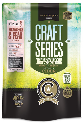 Mangrove Jack's Strawberry & Pear Cider Pouch