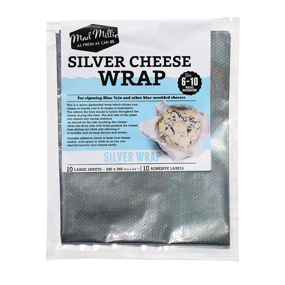 Mad Millie Silver Cheese Wrap