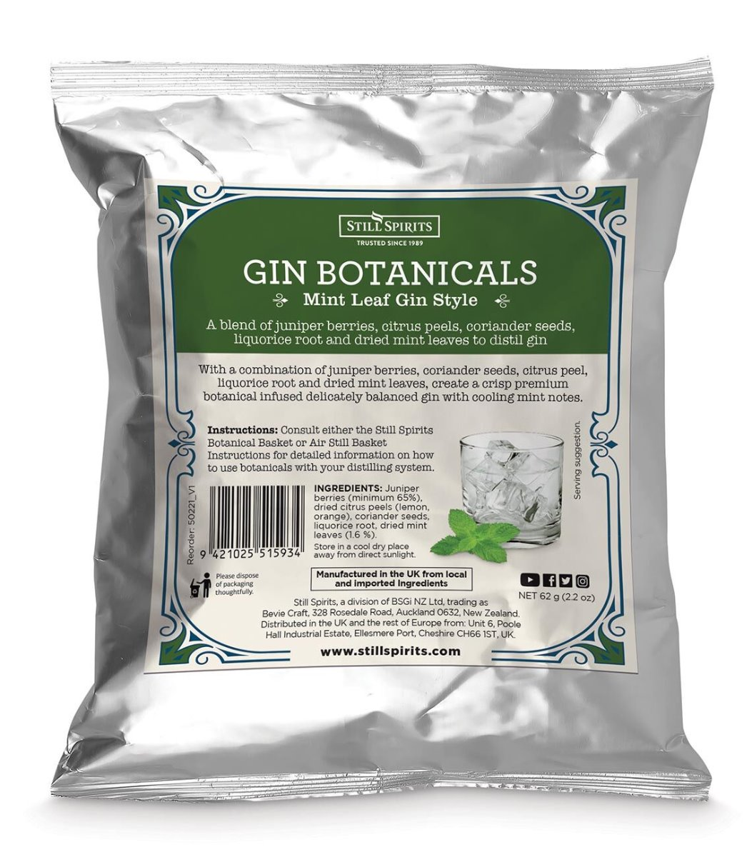 Still Spirits Mint Gin Botanicals